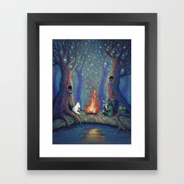 Moomin's night Framed Art Print