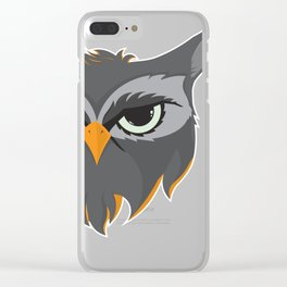 Be Wise like an Owl Clear iPhone Case
