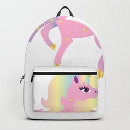Unicorn Illustration Pastel Unicorn Shirt Backpack