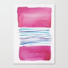 20  |181026 Lines & Color Block | Watercolor Abstract | Modern Watercolor Art Canvas Print