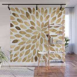 Watercolor brush strokes - neutral Wall Mural