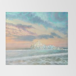 Frozen waves Throw Blanket