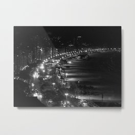 Copacabana beach at night Metal Print