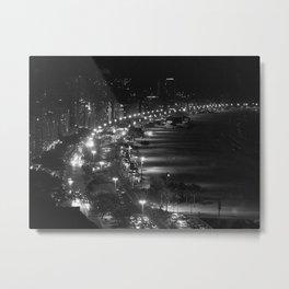 Copacabana beach at night Metal Print