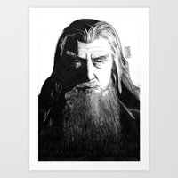 gandalf Art Prints featuring Gandalf by Mike