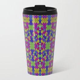 Ethnic Modern Geometric Pattern Travel Mug