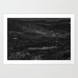 Hurricance ridge overlook Art Print