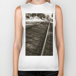 Railroad Tracks Biker Tank