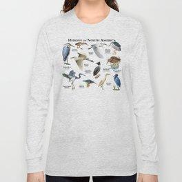Herons of North America Long Sleeve T-shirt