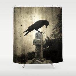 The Crow's Cross Shower Curtain