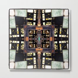 Railyard Mandala Metal Print