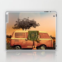 summer sunset landscape with skull and guitar Laptop & iPad Skin