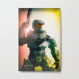 """Our duty as soldiers is to protect humanity... whatever the cost""  Metal Print"