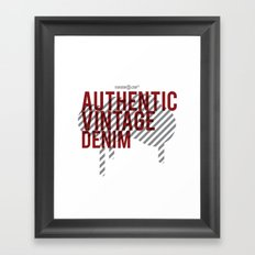 Authentic Vintage Denim Framed Art Print