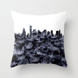 Boston Skyline Massachusetts Throw Pillow