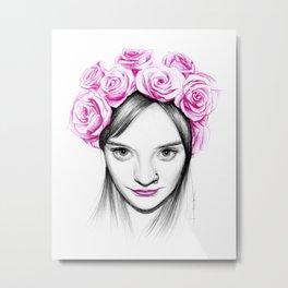 Flower crown Metal Print
