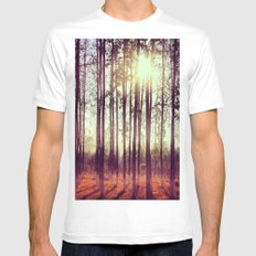 Somewhere in China White Mens Fitted Tee MEDIUM