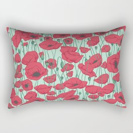 Poppies in August Rectangular Pillow