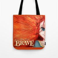 merida Tote Bags featuring Brave: Merida by Schewy