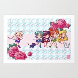 Inner Senshi Chibis Art Print