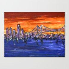 Ben Franklin Bridge Sunset Canvas Print