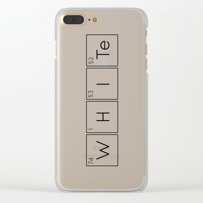 WHITe Chemical Formula Clear iPhone Case