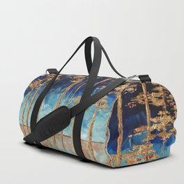 Forest of Blue and Gold Duffle Bag