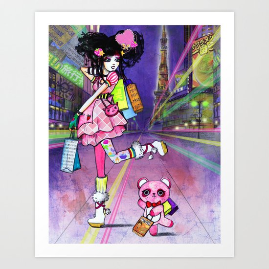 Harajuku Girl Art Print