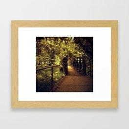 TROLL BRIDGE Framed Art Print