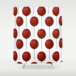 Rise Up - Little Red Balloon - Love - Children - 57 Montgomery Ave Shower Curtain