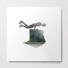 Random Planking in the Wilderness Metal Print