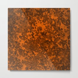 Mango Orange Hybrid Camo Pattern Metal Print