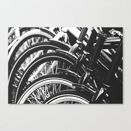 Bicycles, Bikes in Black and White Photography Canvas Print
