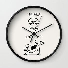 Inhale Exhale Beagle Wall Clock