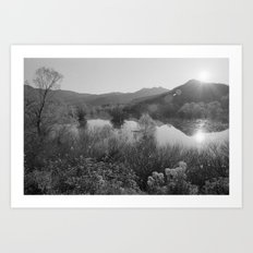 Sunset at Lake Scutari Art Print