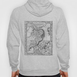 Vintage Map of Downtown Boston (1864) BW Hoody