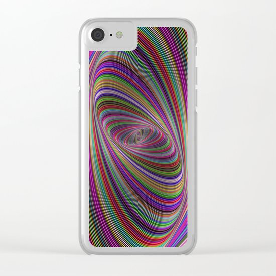 Psychedelic colors Clear iPhone Case