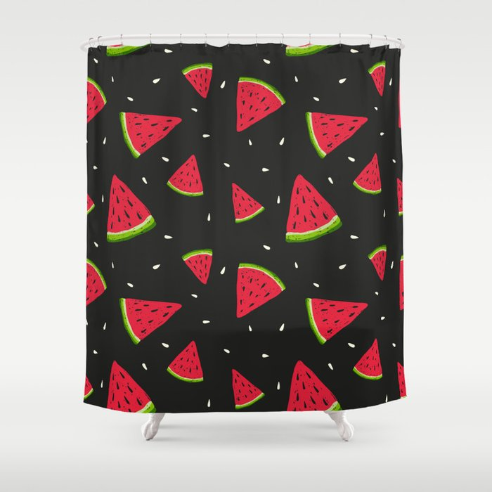 Watermelons in tha dark Shower Curtain