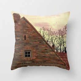March in Poland Throw Pillow