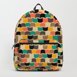 Retro abstract pattern Backpack