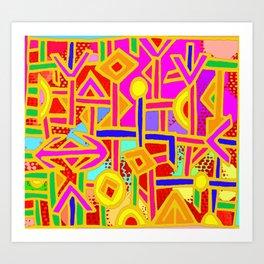 Vagabond Wanderer MaP Art Print