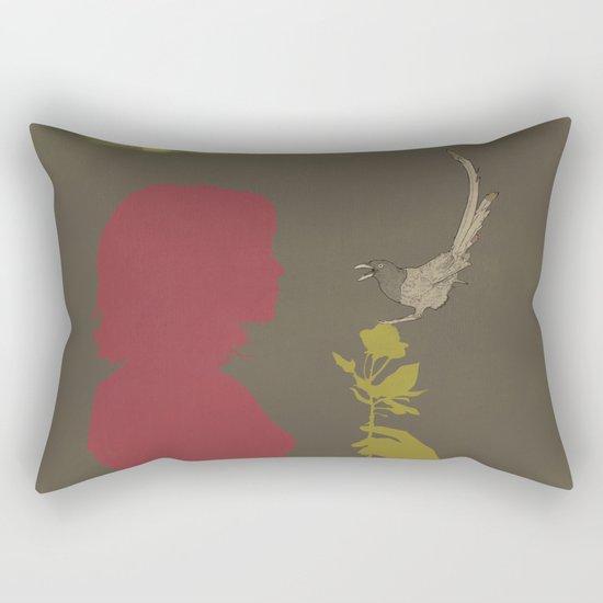 Toma Un Flor Rectangular Pillow