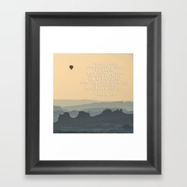 Be Strong and Courageous - Joshua 1 Verse 9 - Square Format Framed Art Print