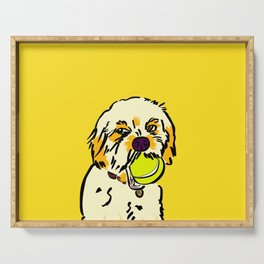 Ralph the Cavapoo Serving Tray
