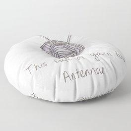 This Ball of Yarn has Antennae. Floor Pillow