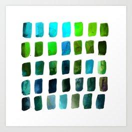 Brushstrokes 1zc by Kathy Morton Stanion Art Print