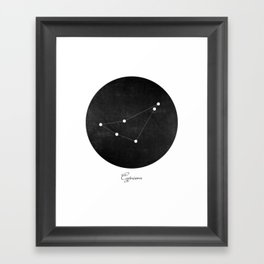 Capricorn Zodiac Constellation Art Print Framed Art Print