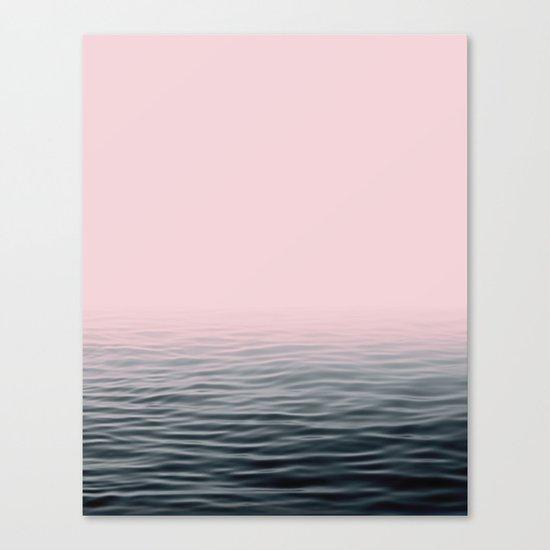 Misty sea Canvas Print