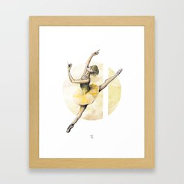 Aquarelle Ballerina 05 Framed Art Print