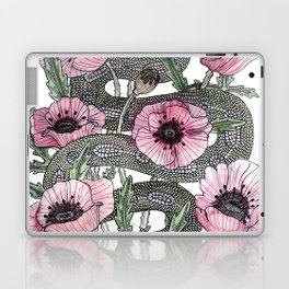 Snake and Poppies Laptop & iPad Skin